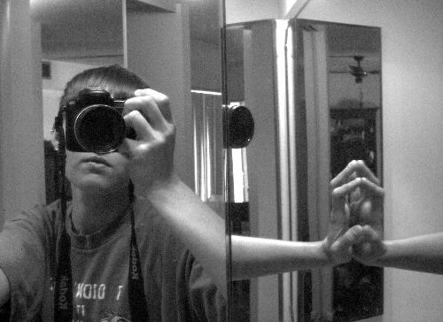 me and my camera  - p850, kodak
