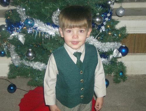 My Toddler - This is my little guy, 2 and a half years old, wearing his Christmas suit. Isn't he so darn handsome?