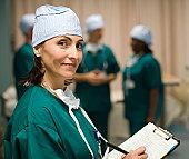 Nurse in hospital - photo of nurse in hospital setting