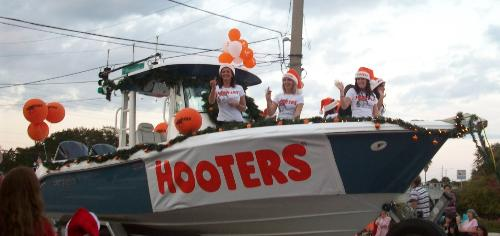 Hooters Float - One of the floats at our local parade