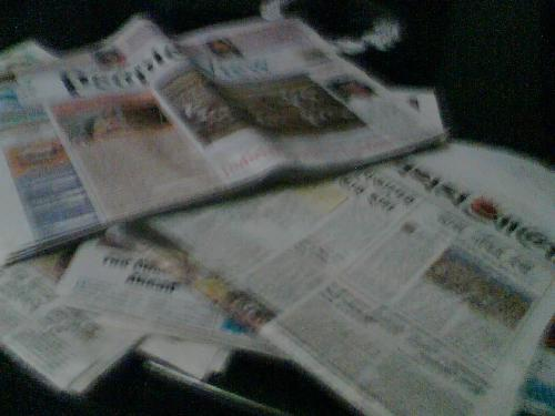 Reading of newspaper - Is internet comepititor of newspapers?No both are complementery to each other.To know details one has to read newspapers.
