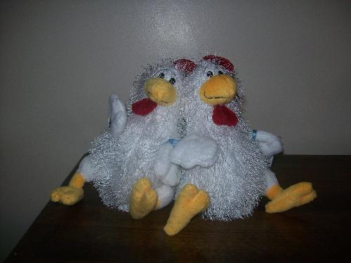 Webkinz Roosters - A couple Webkinz Roosters for my daughter and nephew for Christmas