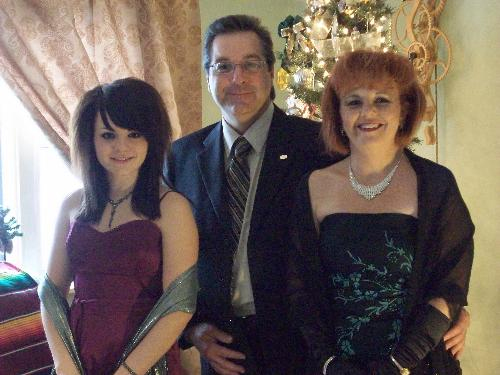 Picture - Here is a picture of the 3 of us dressed up for the Ballet.