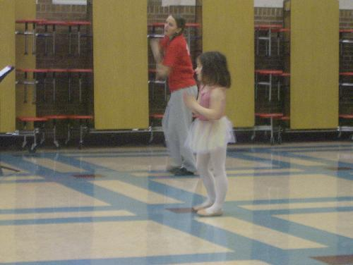 My daughter - My daughter at her dance preview