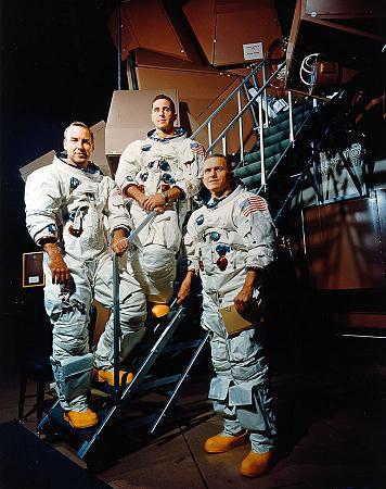 The crew of Apollo 8 - The Apollo 8 crew, Borman, Lovell and Anders.