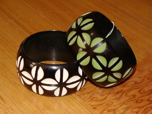 bangles made in india - these are bangles made of resin and painted and carved available on my website.