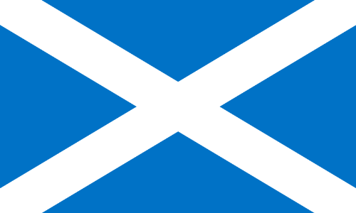 Scotland Flag - One of the 2 Scottish Flags i've found. So which is the original flag?