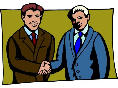 Friends shaking hands - clipart of friends shaking hands