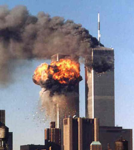 terorism - 9/11 attack on twin towers