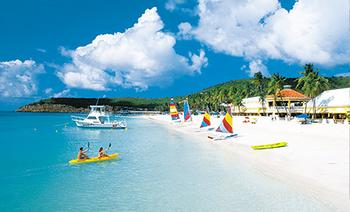 Beaches - This is the sandals beach in antigua. Here in Antigua we have 365 beaches................