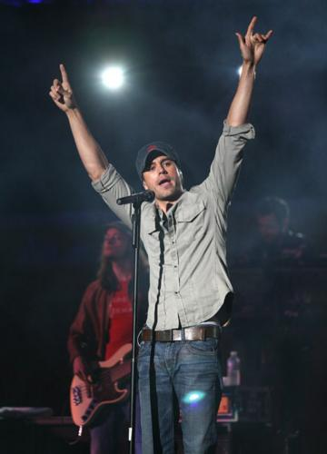 enrique - the most famous,talented singer who i saw.