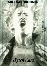 Exploding Peter Petrelli - My sketch card of Peter exploding.