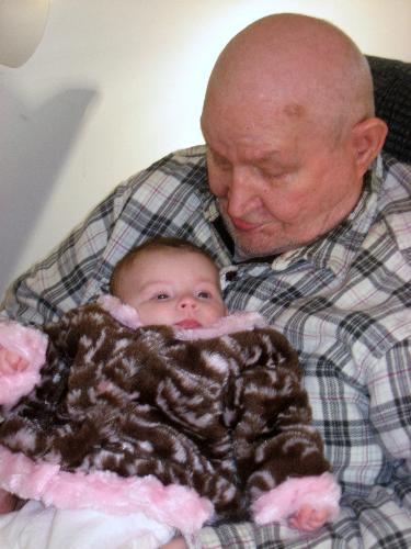 Dad - Savanna loves her great grandfather.