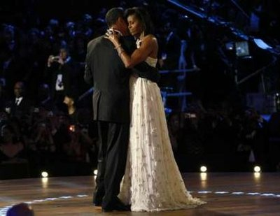 Fashion Hit Or MIss? - Michelle Obama chose a white ball gown for the Inaugural Ball.