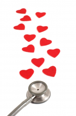 Stethoscope with hearts - Stethoscope with hearts. Nice picture which describes Valentines Day, love and heart beats.