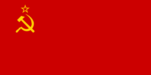 Flag of the Soviet Union - Soviet Union red flag with a yellow sickle moon.