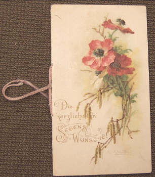 greeting card - antique german greeting card