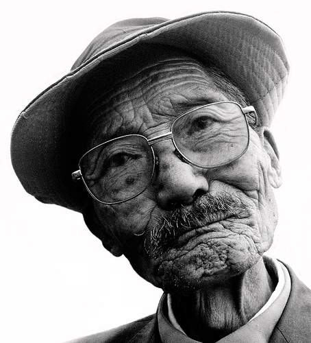 Old Man - Old Asian man about 90 years old.