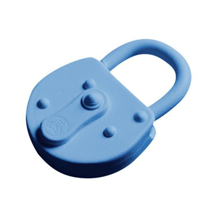 Lock Keychain - Lock Key chain in blue color is for safety.