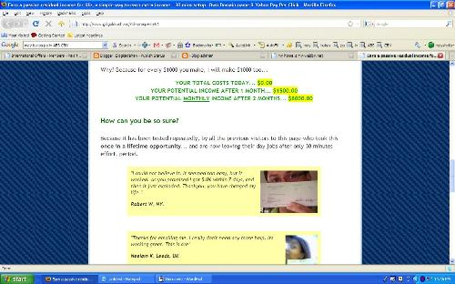 Bogus Site - This site uses photos from people who never tried their program but has testimonials with them using different name. www.gdigoldrush.ws/?id=prosperity01