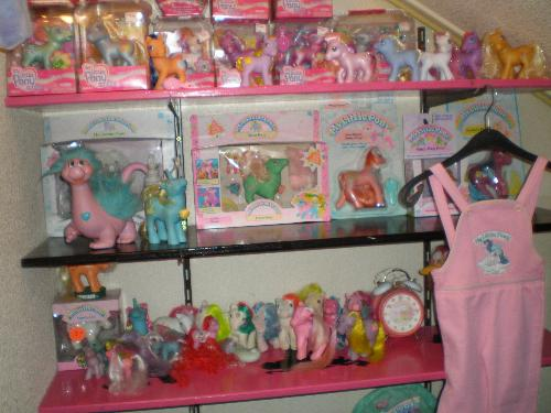 Part of my collection - This is a part of my my little pony collection, I have a lot more but it doesn't fit in one picture... lol!