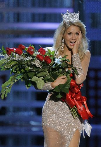 Miss America  - A woman after being crowned Miss America