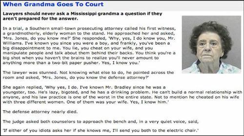 When Grandma Goes To Court - Mississippi grandma