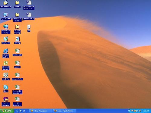 Desktop screenshot - Please look at the wording of the desktop icons.