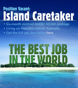 The island caretaker of the Great Barrier Reef - This is the official logo for this international search for the island caretaker of the Great Barrier Reef - the best job in the world.