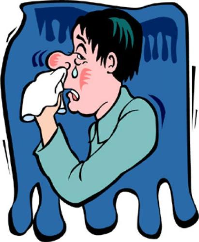common cold cartoon. The common cold
