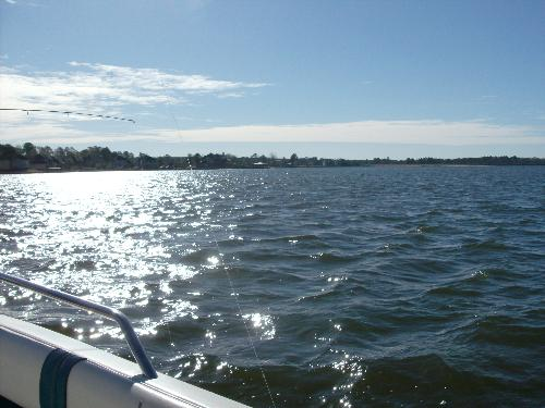 picture on the boat - This is a picture I took while fishing on a boat.