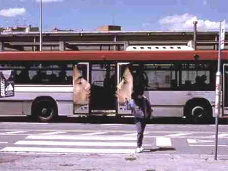 Kissing Bus - Unique and creative design graphic