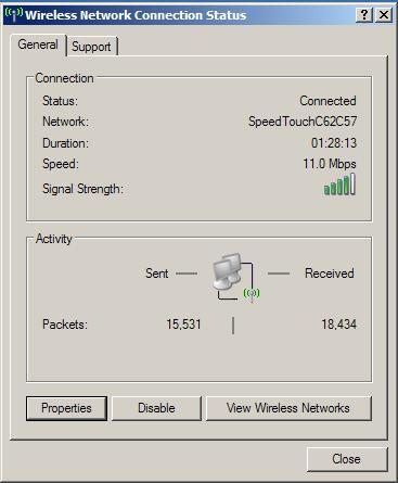 WLAN connection - Wireless connection indicator