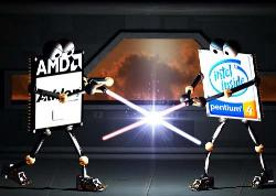 AMD vs INTEL - THE WAR BEGINS HERE!!!!!!!