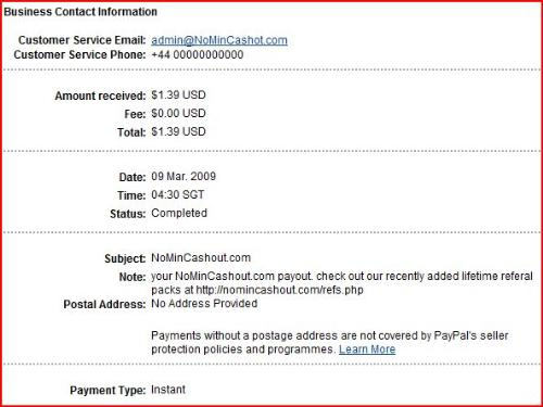 nomincashout second payment proof - Nomincashout second payment