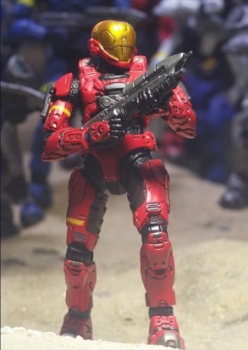 A Halo 3 Spartan figure - a Spartan figurine from Halo 3!