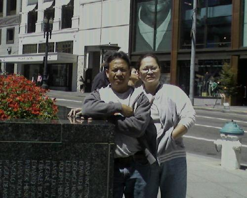 mom and dad in sf - here's a photo of my mom and dad in san francisco