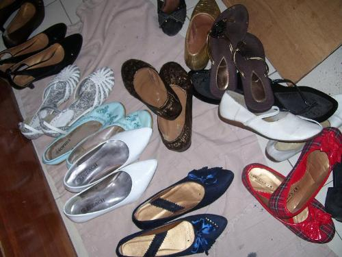shoe collection - all my shoes.