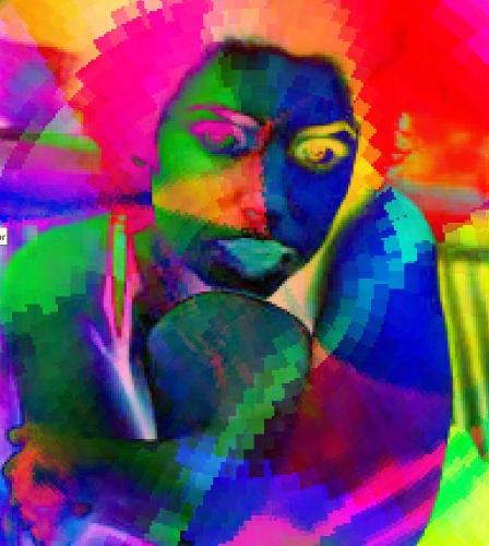 artistic representation of a woman - a digital art picture of a woman.