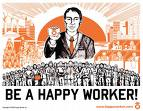 Be a Happy Worker, everyone! - This photo shows that everyone must be happy with their work/job.
