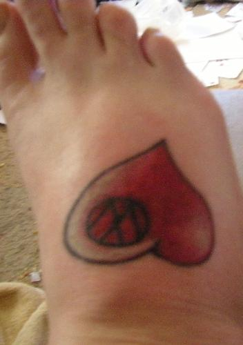 foot tattoo - My new (and very painful) foot tattoo.