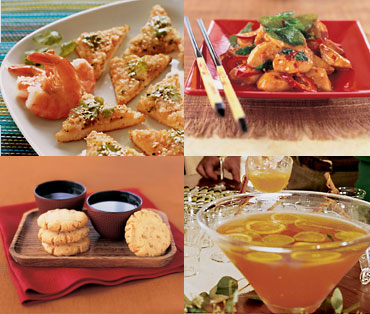 food - The different food dishes.