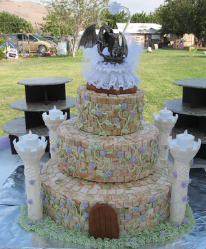 Castle Cake - I found this gorgeous cake online. There are some amazing cakes out there!!!
