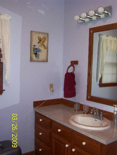 Bathroom Redone - This is from the door way.