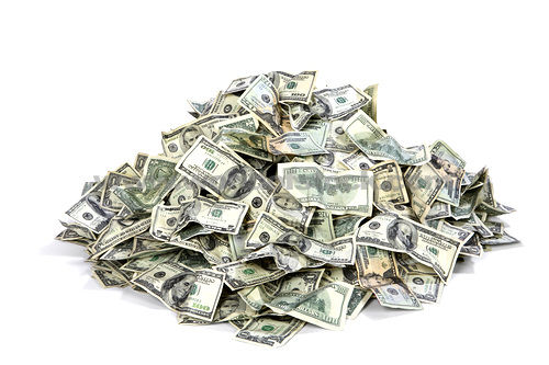 Pile of money free vector
