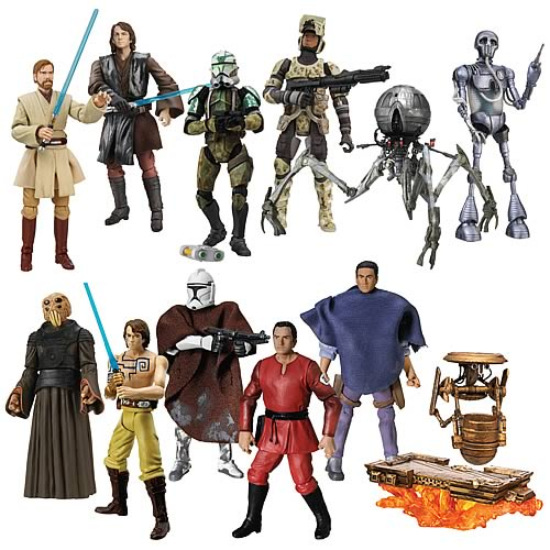 various range of star wars toys. a range of star wars action figures