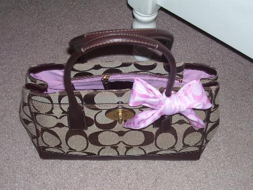 Coach - This is one of my favorite purses I own. I got a great deal on it at the Coach outlet!