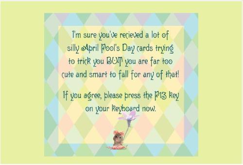 april fools day card - Happy april fools day 2009