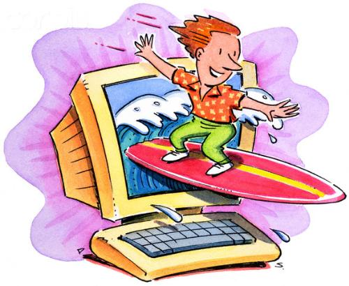 Surfing - Netsurfing as well as water surfing