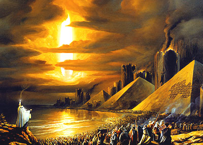 The Exodus - A picture showing the biblical Exodus where the Red Sea was about to be parted.